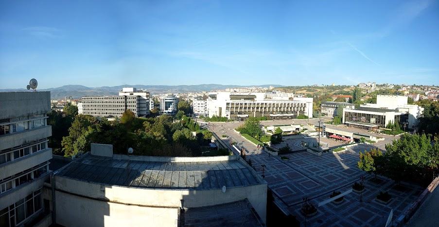 Благоевград панорамна снимка на централна градска част