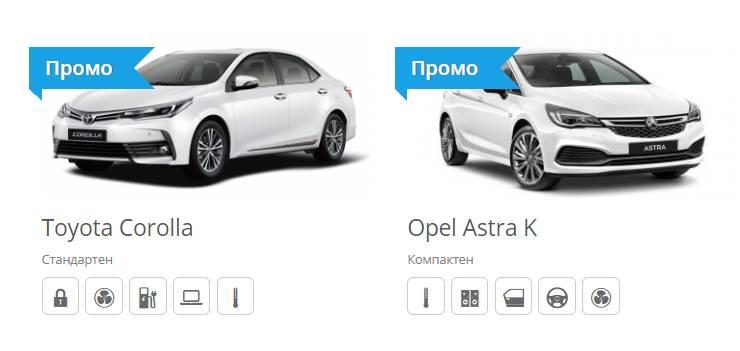 Цена за коли под наем в София